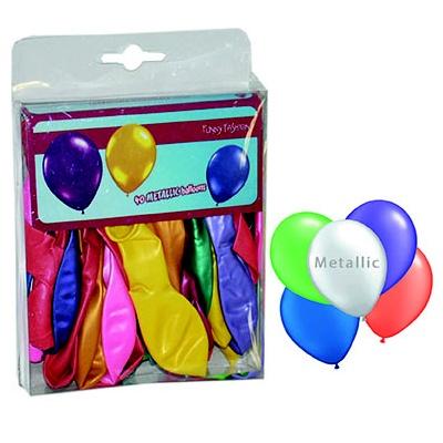 Balónky metalické barevné - 40ks