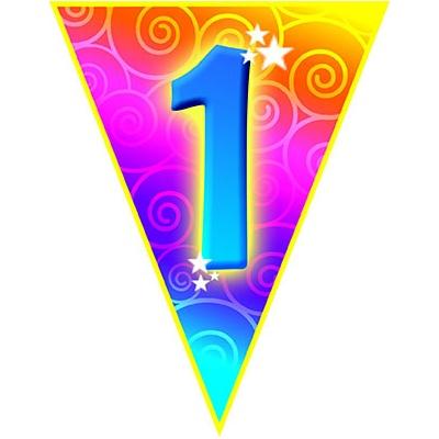 Girlanda vlajková narozeniny - číslo 1