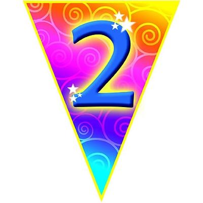 Girlanda vlajková narozeniny - číslo 2