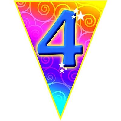 Girlanda vlajková narozeniny - číslo 4