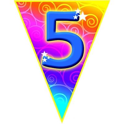 Girlanda vlajková narozeniny - číslo 5