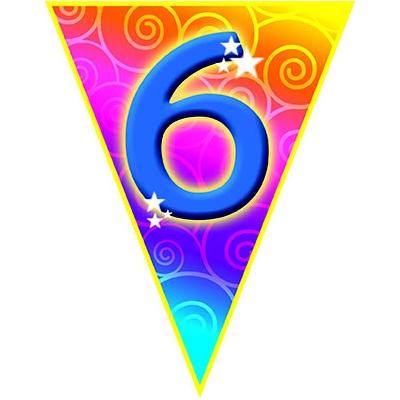 Girlanda vlajková narozeniny - číslo 6