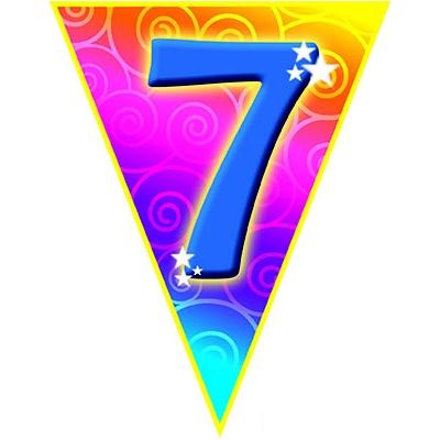 Girlanda vlajková narozeniny - číslo 7
