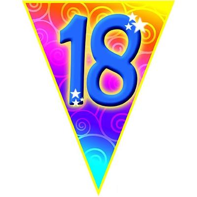 Girlanda vlajková narozeniny - číslo 18