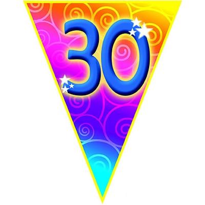 Girlanda vlajková narozeniny - číslo 30