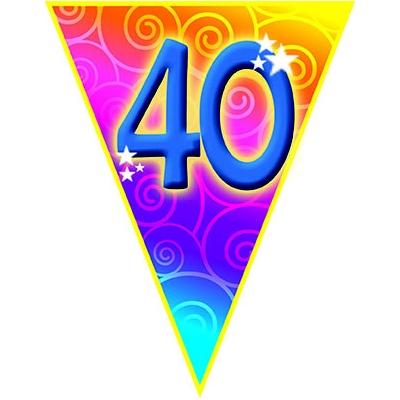 Vlajková narozeninová girlanda s číslem 40 délka 5m