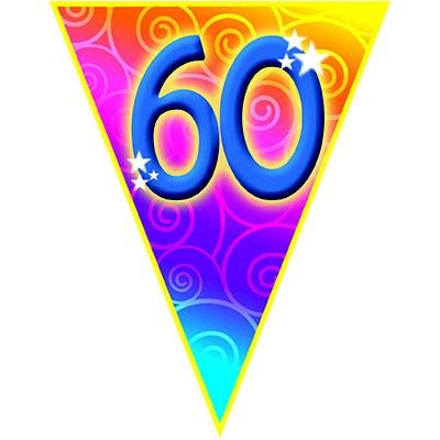 Girlanda vlajková narozeniny - číslo 60