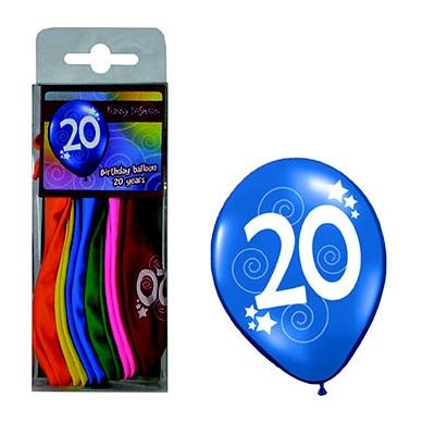 Balónky barevné číslo 20 - 12ks