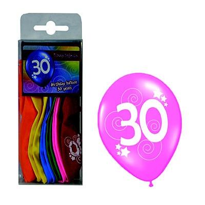 Balónky barevné číslo 30 - 12ks