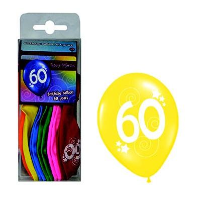 Balónky barevné - číslo 60 - 12ks
