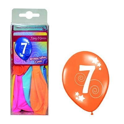 Balónky barevné číslo 7 - 12ks