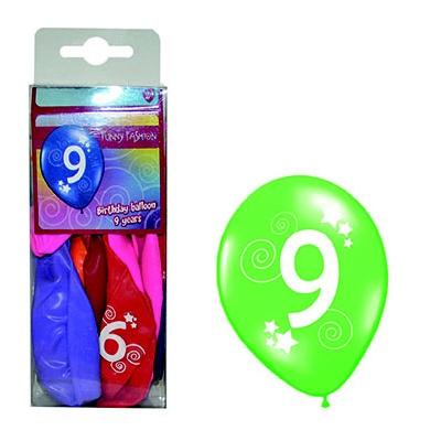 Balónky barevné číslo 9 - 12ks