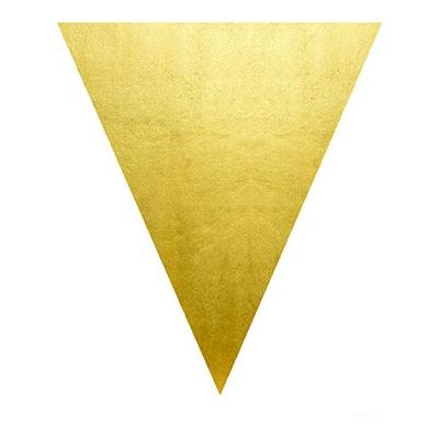 Girlanda vlajková zlatá - 5 m