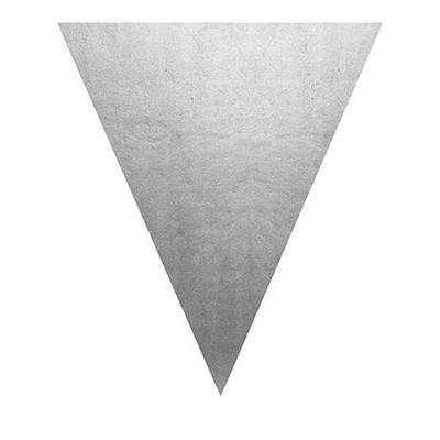 Girlanda vlajková stříbrná - 5 m