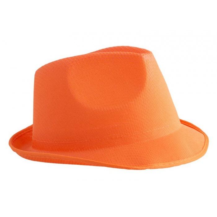 Klobouk neon - oranžový
