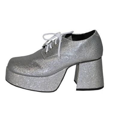 Boty retro stříbrné