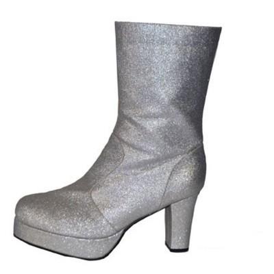 Boty retro - stříbrné