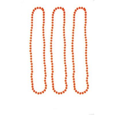 Náhrdelníky neon 3 ks - oranžové