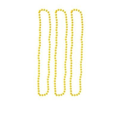 Náhrdelníky neon 3 ks - žluté