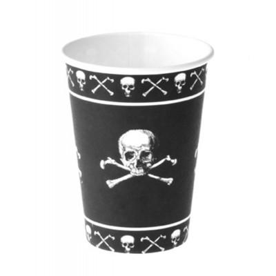 Papírové kelímky - piráti 8ks
