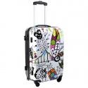 Cestovní kufr zavazadlo DREAM BIG bílý velký